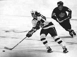 Pierre Larouche and Marcel Dionne NHL photo