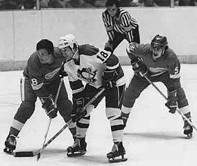 NHL face-off, Civic Arena, Pittsburgh photo